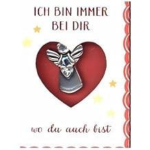 Schmuckanhänger - Kleiner Schutzengel: Ich bin immer bei dir / wo du auch bist
