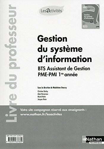 Activités 5.3 et 7.1 - Gestion du système d'information