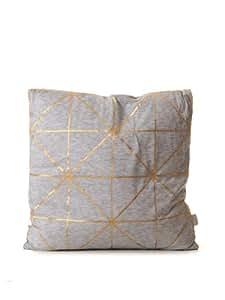 Bloomingville Cushion diagonal foil print coussin Gris one size