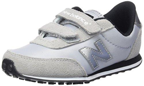 New Balance Ke410 Kids Lifestyle Velcro, baskets sportives garçon gris (Grey)