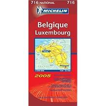 Carte routière : Belgique - Luxembourg