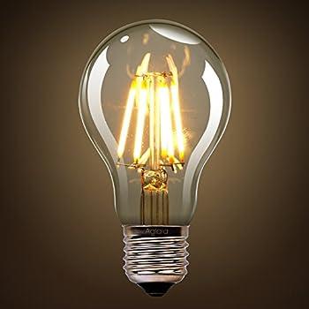 Aglaia 6W E27 Bombilla LED, Incandescente Equivalente a 60W, 2700K Blanco Cálido y 600 LM, 360° Ángulo del Haz