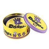 Hehialrk Juego de Mesa DOBBLE Spot Sport & Alphabet para niños diversión Familiar Doble Encuentra la versión en inglés