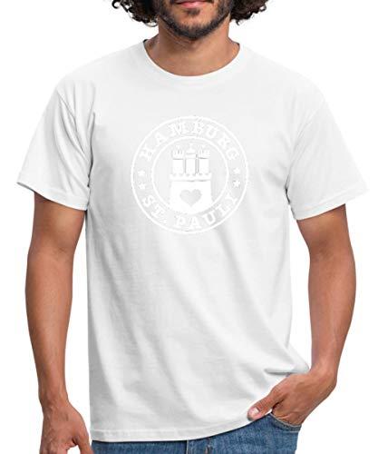 Spreadshirt Hamburg Sankt Pauli Männer T-Shirt, M, Weiß