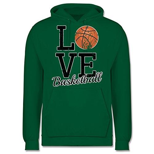 Basketball - Love Basketball - Männer Premium Kapuzenpullover / Hoodie Grün