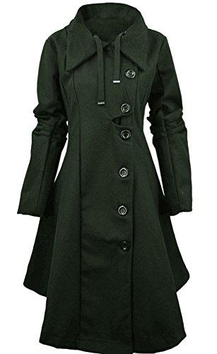 L'autunno E La Versione Cappotto Invernale Femminile Coreano Irregolare Black