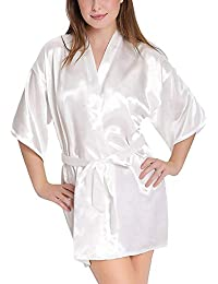 74e24009af Tommy Vans Women Satin Babydoll Kimono Robes V-Neck Nightwear Rob Nightdress  for Women Sexy