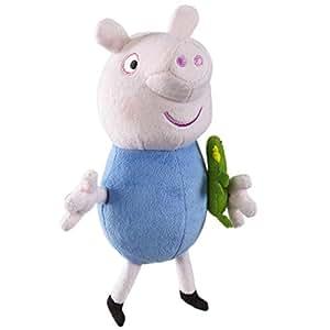 Peppa Pig Supersoft 19cm George Avec Dinosaur souple en peluche