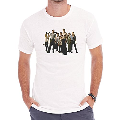 The Walking Dead First Season Crew Herren T-Shirt Weiß