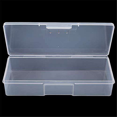L_shop Nail Tool Aufbewahrungsbox Nail Tips Leerer Transparenter Nagellack Halter Zubehör Werkzeugkoffer Organizer Halter Box, Kunststoff, weiß