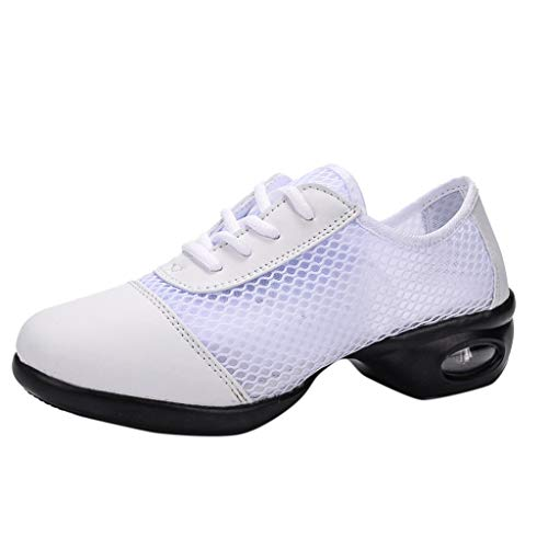 Chaussures Sneakers Femme,OIKAY Femmes Modernes Jazz Dance Sneakers Respirant Mesh Dance Shoes Casual Chaussure De Course Air Sports Chaussures Chaussures de Course Choc Absorbant Trainer