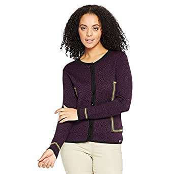 Madame Women's Cardigan (M8W70048 032_Purple_2XL)