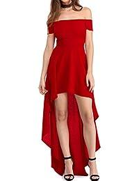 e1b1babb484 Amazon.it: Vestito elegante rosso - Vestiti / Donna: Abbigliamento