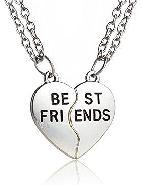 Broken Heart Bff Best Friends Herz Split Puzzle Anhänger Halskette Geschenk Für Freundschaft 2Schmuck Set