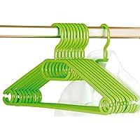 Kesper 10 Piece Plastic Cloth Hanger, 40 cm, Green, One Size