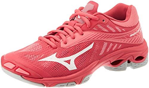 Mizuno Damen Shoe Wave Lightning WOS Sneakers, Pink (Azalea/WHT/Camelliarose 001), 40 EU