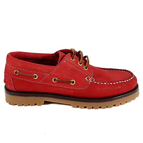 Sachini , Damen Bootsschuhe, rot - gelb - Größe: EU 36