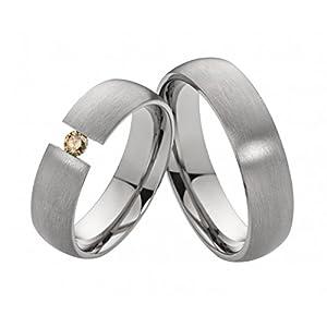 Costina Verlobungsringe Trauringe Freundschaftsringe Diamant Titanringe T137 und Ihrer Lasergravur