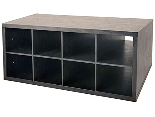 8 Cubby (Organized Living freedomRail 8-Cubby Shoe Storage OBox - Midnight Live by Organized Living)