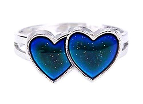 Inception Pro Infinite Magic Ring Stimmung Stimmung Ring mit Symbol Herzen Farbe ändern abhängig von Stimmung Geschenkidee Mädchen Jungen einstellbar - Stimmung Ringe Kinder