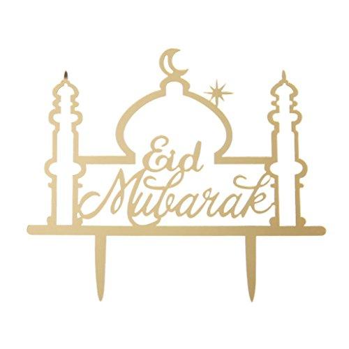 Senoow Eid Mubarak Ramadan Hochzeitstorte Topper Muslim Islam Party Cupcake Decor Hohl