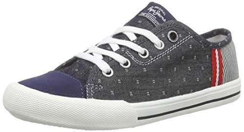 Pepe Jeans Jungen Britt Fabric Low-Top Blau (559DK DENIM)