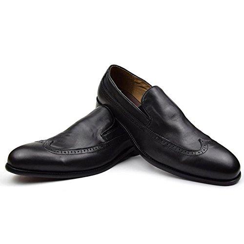 Cuir Business Bullock Respirant Homme Convient ?l'Oxford De Wingtip Pack Black