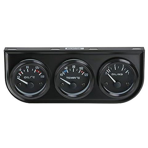 Rupse 2 '' 52mm Elektrisches Wasser Temperatur Öldruck Volt Voltage Meter Car Gauge