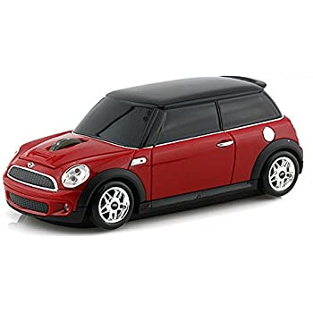 souris sans fil voiture mini cooper rouge informatique. Black Bedroom Furniture Sets. Home Design Ideas