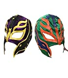 Reino Unido 2 (dos) aleatorios color Rey Mysterio Lucha Libre HALLOWEEN CARNAVAL COSPLAY Cosplay Cabeza Completa Máscara - UNIVERSAL TALLA Cremallera WWE