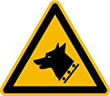 Aufkleber Warnung vor dem Wachhund nach ISO 7010 ISO-W013SL 100mm