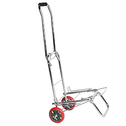 ZGL Laufkatze Laufkatzen-Supermarkt-Einkaufswagen-faltender Zug-Rod-Auto-Gepäck-Anhänger-tragbare Lebensmittelgeschäft-Laufkatze speichern Bemühungs-Zug-LKW Handwagen (größe : - Lkw Lebensmittelgeschäft