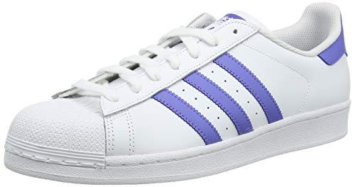 adidas Herren Superstar Sneaker, Weiß Real Lilac/Footwear White 0, 42 EU - Hop Schuhe Hip