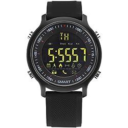 Imusk Ex18Smart montre homme montre de sport 5ATM étanche Bluetooth 4.0Smartwatch podomètre appel rappel Chronomètre, noir