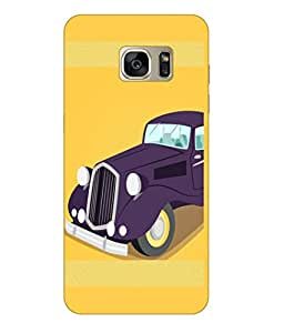 Happoz Samsung Galaxy S7 Edge Cases Back Cover Mobile Pouches Shell Hard Plastic Graphic Armour Premium Printed Designer Cartoon Girl 3D Funky Fancy Slim Graffiti Imported Cute Colurful Stylish Boys D359