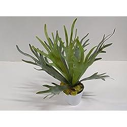 Farn Geweihfarn Dekofarn Dekopflanze Kunstpflanze 50 cm 51002-1 getopft F70