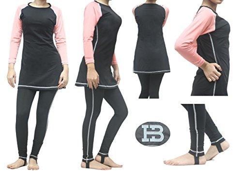 -Badekleidung, zurückhaltend, vollbedeckend7700 Gr. M, rose (In Voller Länge Schwimmen Kostüme)