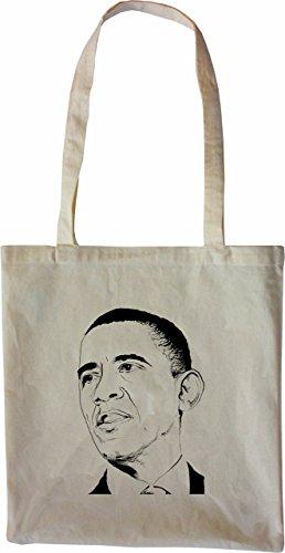 Mister Merchandise Tasche Barack Obama Stofftasche , Farbe: Schwarz Natur
