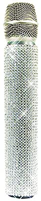 MicFX SF001 Diamonds Crystal Slip-On Wireless Microphone Sleeve - White