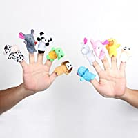 AKORD 10 x Finger Puppets. Animal Shape