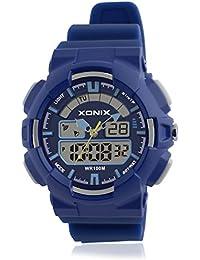 Reloj electrónico digital de múltiples funciones de los ni?os,Led 100 m resina resistente al agua alarma cronómetro hora dual doble pantalla chicas o chicos moda reloj de pulsera-C
