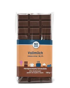 no sugar sugar vollmilch schokolade 100 g vom konditor zuckerfrei low carb. Black Bedroom Furniture Sets. Home Design Ideas