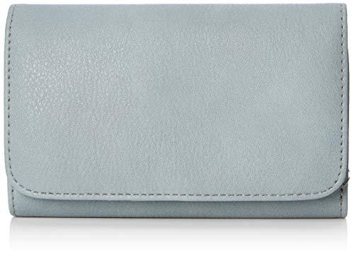 s.Oliver (Bags Damen Portemonnaie Geldbörse, Blau (Grey Blue), 2x10x16 cm