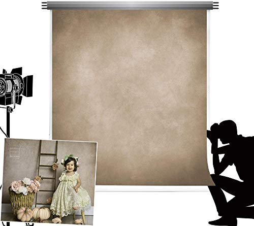 Kate Foto Hintergrund Leinwand 2,5x2,5m Hellbraun Mikro-Farbverlauf Hntergrund Fotostudio Professionelles Fotozubehör Magazinalbum Schießen...