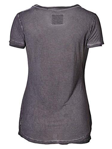 DAILY'S KARLA Damen T-Shirt mit Rundhalsausschnitt und Paillettenapplikationen aus 100% Viskose - soziale fair trade Kleidung, Mode vegan und nachhaltig Color loft, Size S - 2