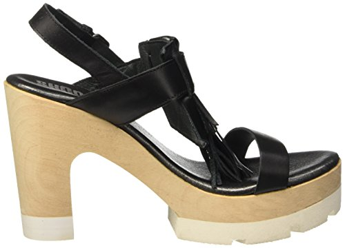 SHOOT - Shoot Shoes Sh-163032 Damen Sommer Schuhe, Sandali Donna Nero (Nero (nero))