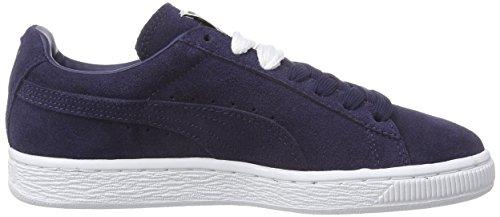 Puma Suede Classic +, Unisex-Erwachsene Sneakers Blau (peacoat-peacoat-white 52)