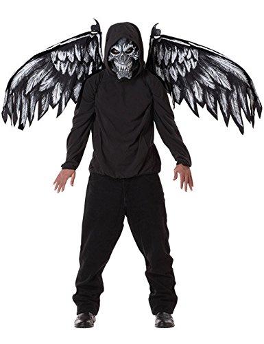 Kit Flügel und Maske gefallener (Kit Kostüme Engel Schwarzer)