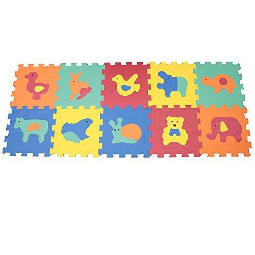 Mamatoy MMA91000 - Mamababy Tappeto Puzzle L'Allegria Fattoria, Tappetini 32 x 32...