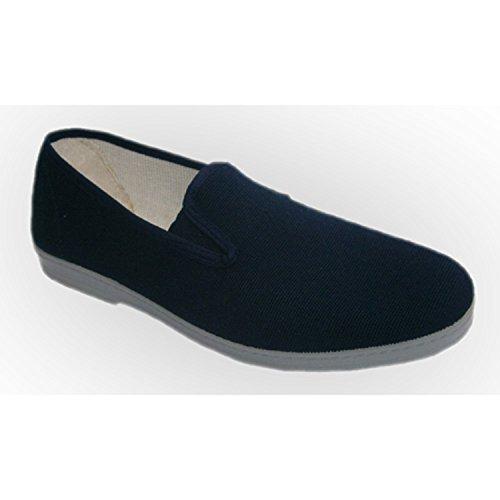 Scarpe di tela con le parti in gomma per semplice Chapines blu navy taille 45
